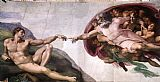 Michelangelo Buonarroti The Creation of Adam painting