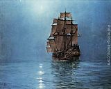 Montague Dawson Crescent Moon painting