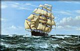 Montague Dawson Racing Home, The Cutty Sark painting