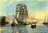 Montague Dawson Thermpyde Leaving Foochow painting
