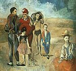 Pablo Picasso Family at Saltimbanquesc painting