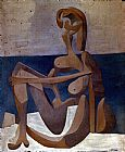 Pablo Picasso Seated Bather painting