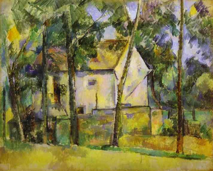 Paul Cezanne House and Trees