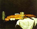 Paul Cezanne Bread and Eggs painting