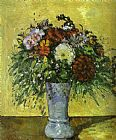 Paul Cezanne Flowers in a Blue Vase painting