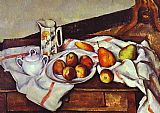 Paul Cezanne Still Life with Peaches and Pears painting