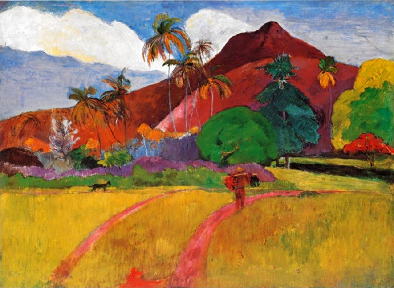 Paul gauguin tahitian landscape painting best paintings for Famous prints for sale
