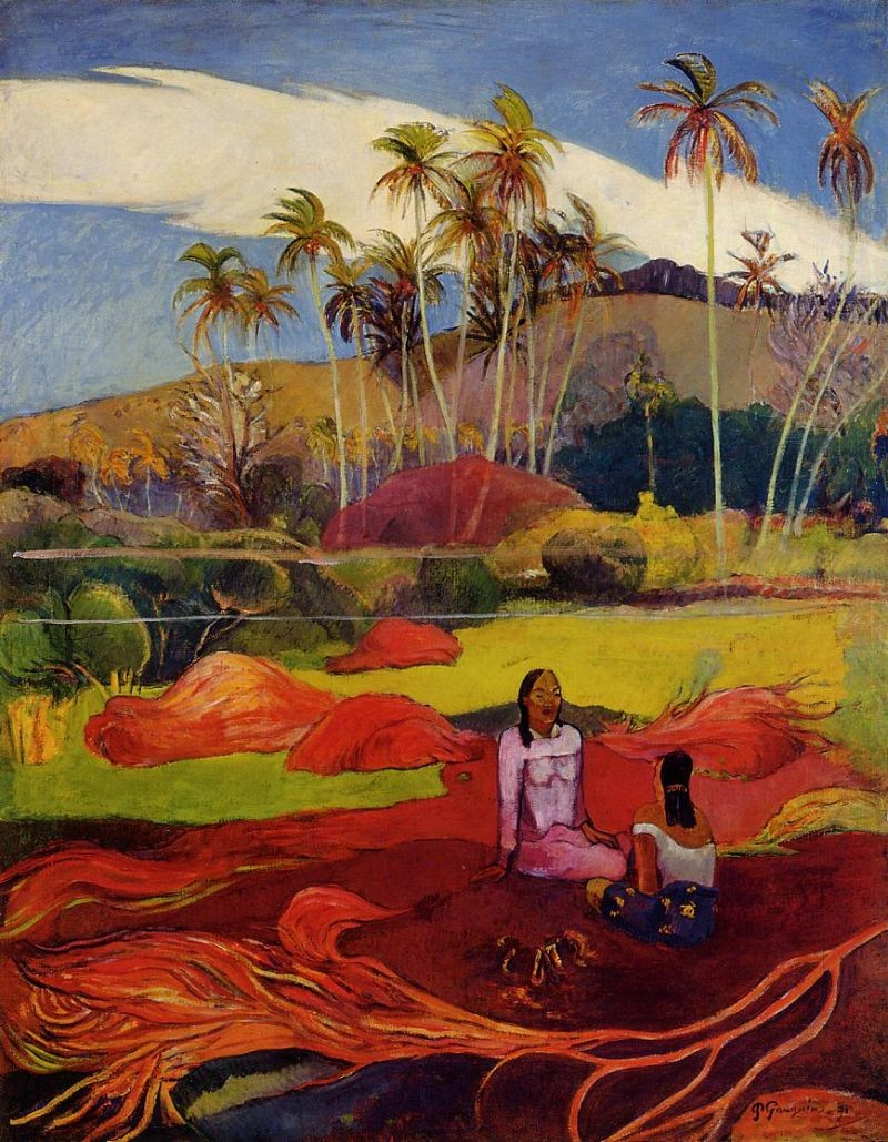 Paul Gauguin Tahitian Women under the Palms