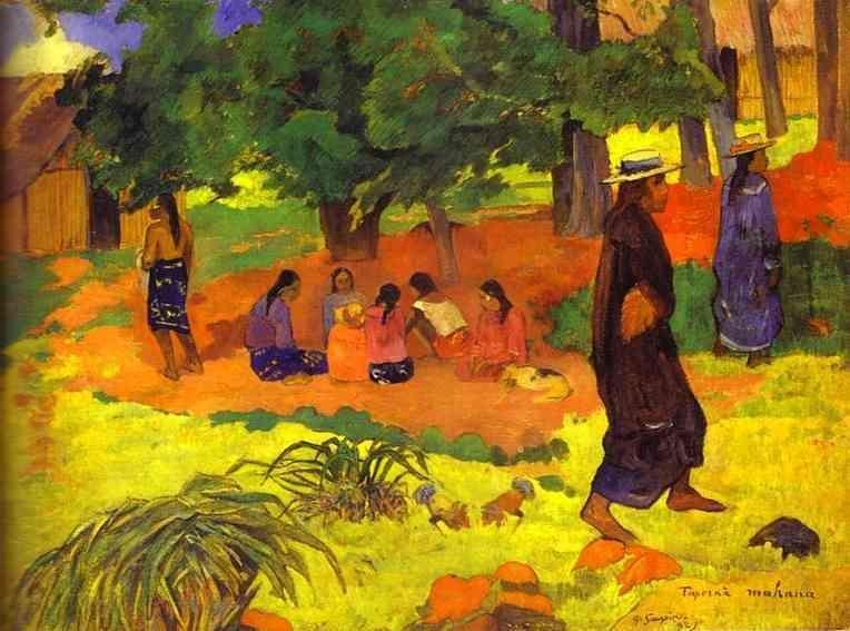 Paul gauguin taperaa mahana painting best paintings for sale for Famous prints for sale