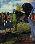 Paul Gauguin Farm in Brittany painting