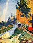 Paul Gauguin Les Alyscamps painting