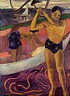 Paul Gauguin Man with an Ax painting