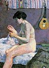 Paul Gauguin Study of a Nude Suzanne Sewing painting