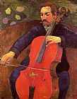 Paul Gauguin The Cellist painting