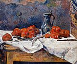 Paul Gauguin Tomatoes and a Pewter Tankard on a Table painting