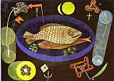 Still Life paintings - Around the Fish by Paul Klee