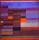 Paul Klee Fire in the Evening painting