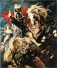 Peter Paul Rubens St George Dragon Rubens painting