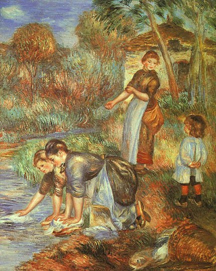 Pierre Auguste Renoir The Washer-Women