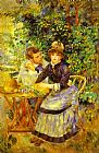 Pierre Auguste Renoir In the Garden. (Dans le jardin) painting