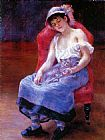 Pierre Auguste Renoir Sleeping Girl painting