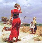 Pino Seaside Gathering painting