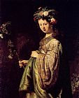 Rembrandt Saskia As Flora painting