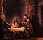 Rembrandt Supper at Emmaus painting
