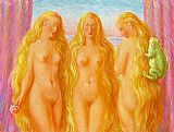 Rene Magritte The Sea of Flames painting