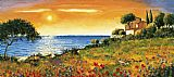 Mediterranean paintings - Sunlight Coast by Richard Leblanc