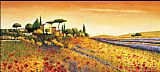 Mediterranean paintings - Sunlight Country by Richard Leblanc