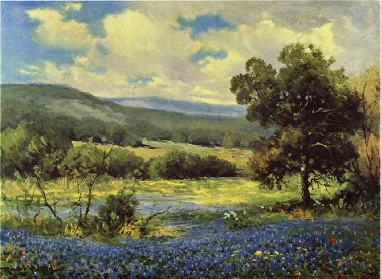 Robert wood fields of blue painting best paintings for sale for Famous prints for sale