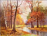 Robert Wood Autumn Glade painting