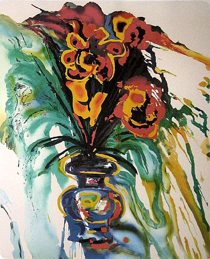 Salvador dali flowers for gala painting best paintings for All of salvador dali paintings