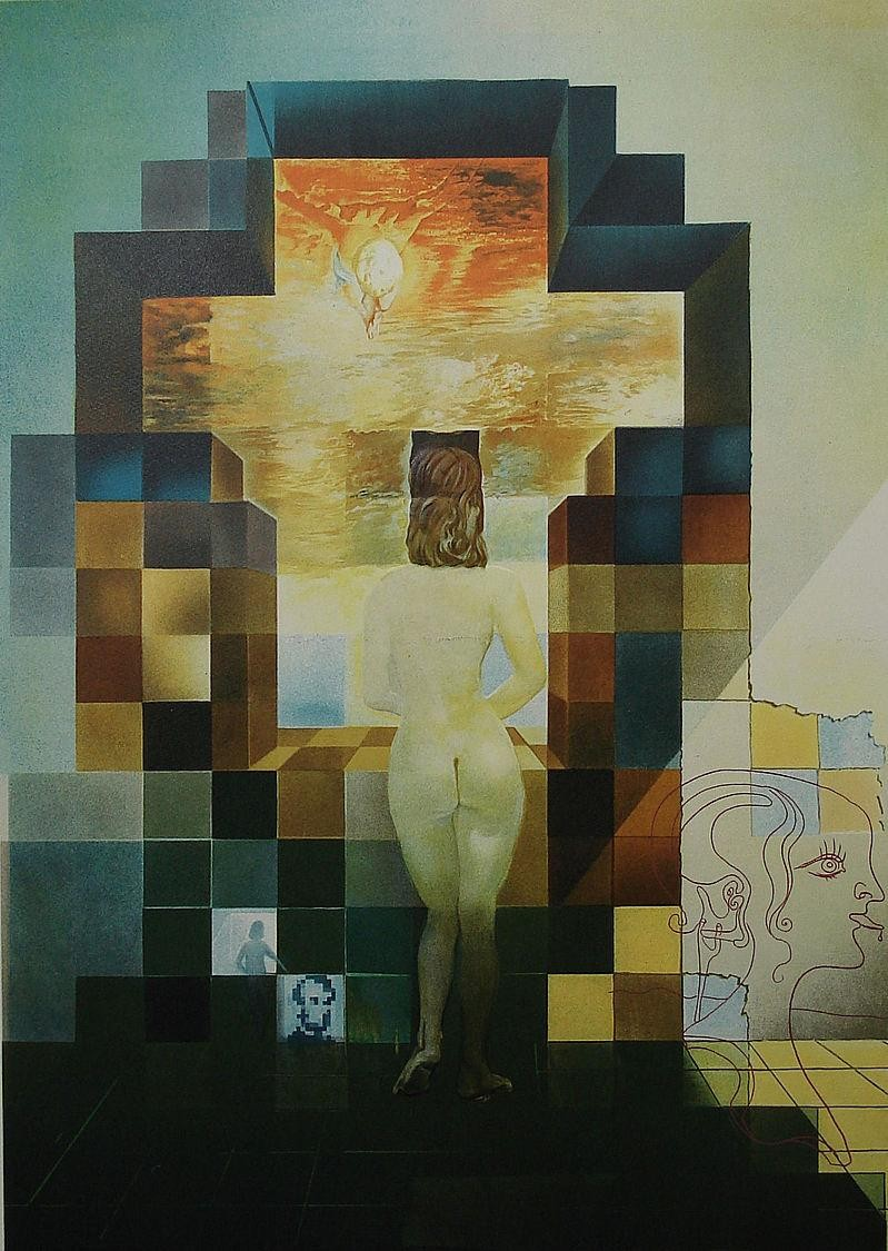 Salvador dali lincoln in dali vision painting best for All of salvador dali paintings