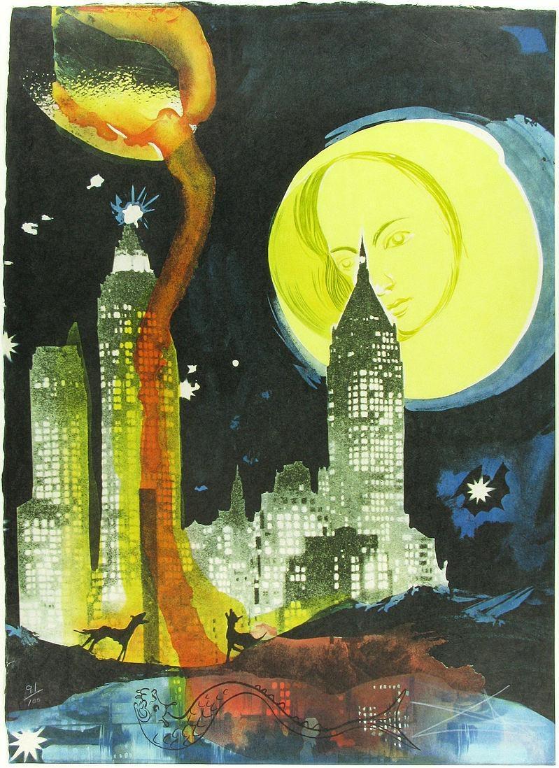 Salvador dali manhattan skyline painting best paintings for All of salvador dali paintings