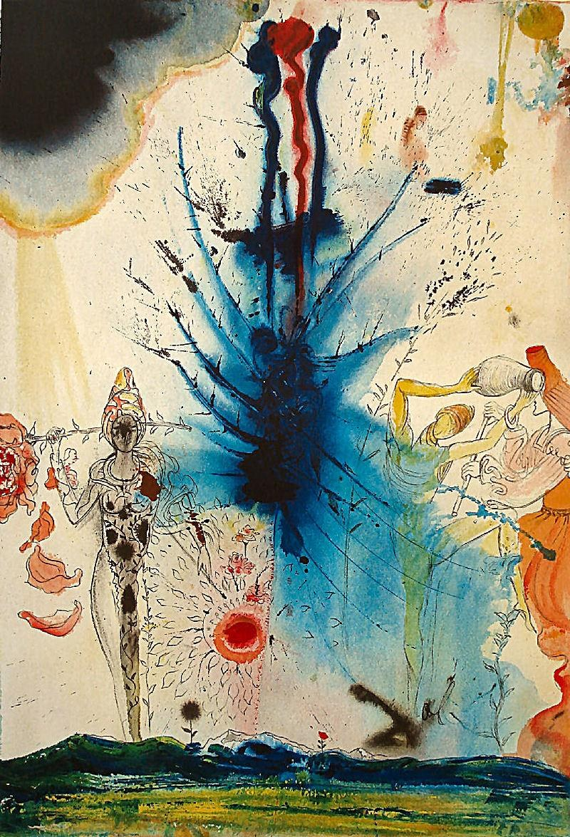 salvador dali the land of milk and honey painting best paintings for sale. Black Bedroom Furniture Sets. Home Design Ideas