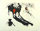 Salvador Dali Bullfight 1 painting