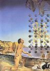 Salvador Dali Dali Nude in Contemplation Before the Five Regular Bodies painting