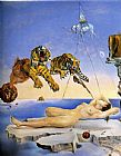Salvador Dali Dream Caused by the Flight of a Bee around a Pomegranate painting