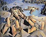 Figures Lying on the Sand