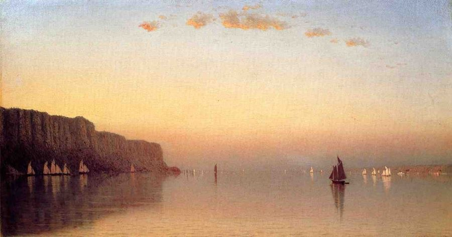 Sanford Robinson Gifford Sunset over the Palisades on the Hudson
