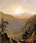 Sanford Robinson Gifford A Sketch in Kauterskill Clove painting