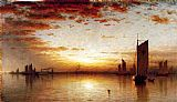 Sanford Robinson Gifford A Sunset, Bay of New York painting