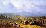 Sanford Robinson Gifford The Camp of the Seventh Regiment near Frederick, Maryland painting