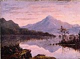 Sanford Robinson Gifford Toung Mountain, Lake George painting
