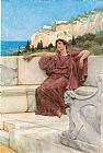 Sir Lawrence Alma-Tadema A Female Figure Resting painting