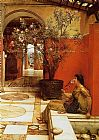 Sir Lawrence Alma-Tadema An Oleander painting