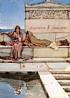 Sir Lawrence Alma-Tadema Xanthe and Phaon painting