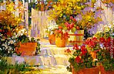 Garden paintings - Patio Pots by Songer Steve